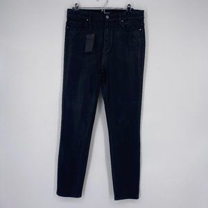 New Paige Jeans Margot Ankle Black Coated HighRise